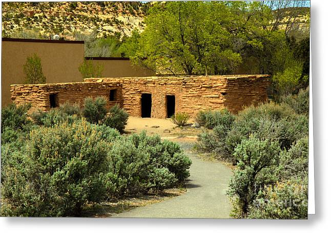 Anasazi  Buildings Greeting Card by Robert Bales