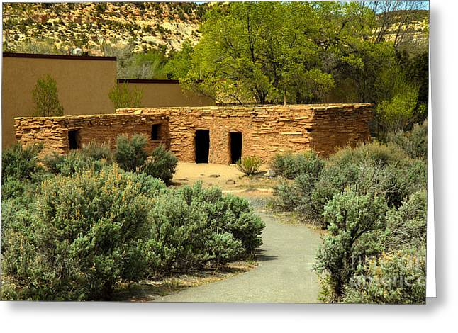 Cliff Dwellers Greeting Cards - Anasazi  Buildings Greeting Card by Robert Bales