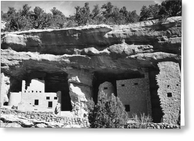 Civilization Greeting Cards - Anasazi Cave Dwellings Greeting Card by Carlos Romero