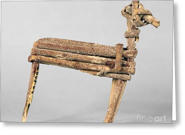 Basket Maker Greeting Cards - Anasazi Split-twig Figure Greeting Card by Granger