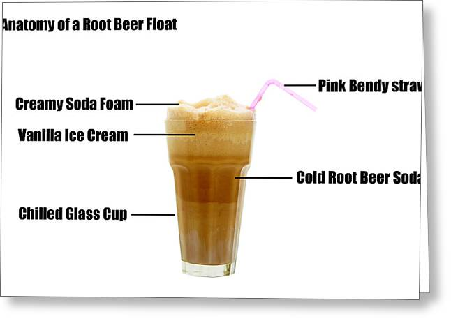 Glass Floats Greeting Cards - Anatomy of a Rootbeer Float Greeting Card by Michael Ledray
