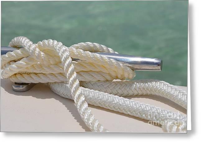 Docked Sailboats Greeting Cards - Anchor Down Greeting Card by Carol McGunagle