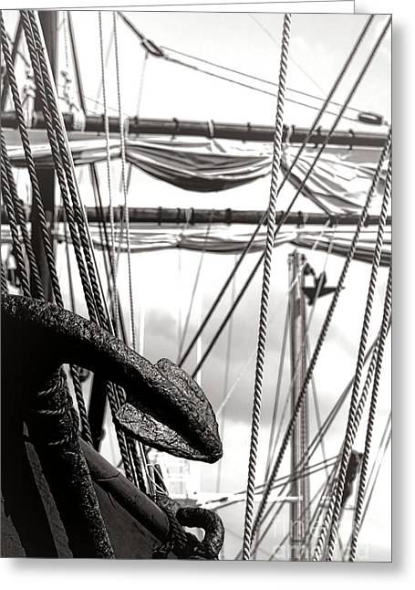 Tall Ships Greeting Cards - Anchor Greeting Card by Olivier Le Queinec