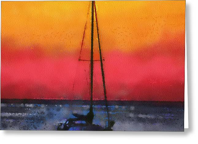Anchored Greeting Card by Anthony Caruso