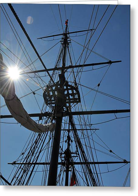 Masts Greeting Cards - Anchors Away Greeting Card by Joanie Drake