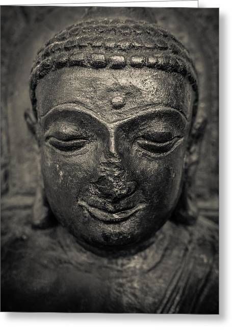 Ancient Buddha Statue Greeting Card by Mr Doomits