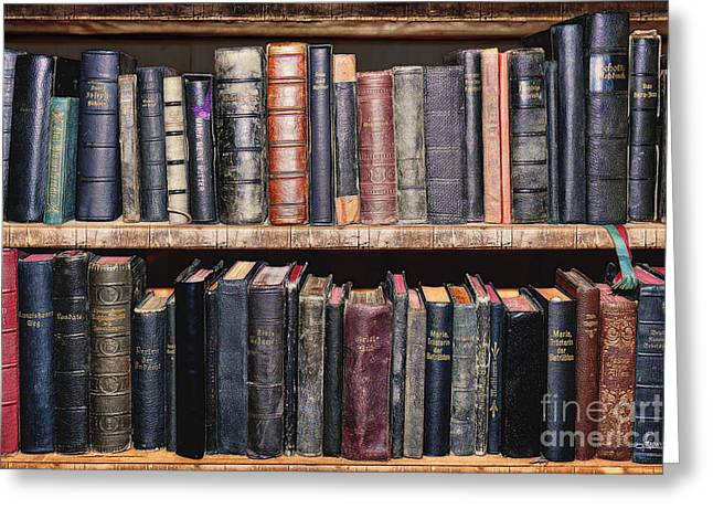 Theological Art Greeting Cards - Ancient Clerical Books Greeting Card by Jutta Maria Pusl