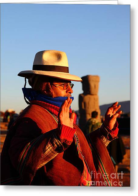 Monolith Greeting Cards - Ancient Cultures and Traditions Greeting Card by James Brunker