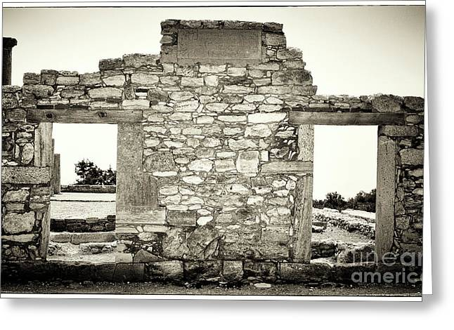 Stone House Greeting Cards - Ancient Doorway Greeting Card by John Rizzuto