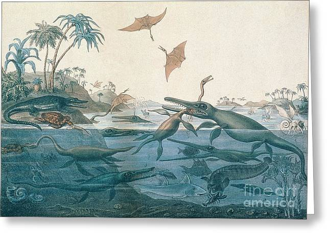Dinosaurs Greeting Cards - Ancient Dorset Greeting Card by Henry Thomas De La Beche