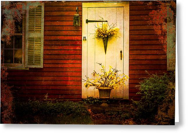 Stepping Stones Greeting Cards - Ancient Entrance Greeting Card by Gene Camarco
