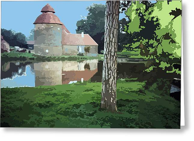 Mystical Landscape Greeting Cards - Ancient Farm South of France  Greeting Card by Elizabetha Fox