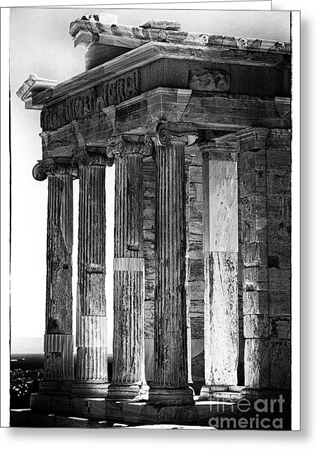 Ancient Greek Ruins Greeting Cards - Ancient Greece Greeting Card by John Rizzuto