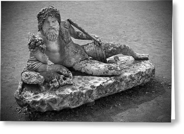 Greek Sculpture Greeting Cards - Ancient Greek Statue Greeting Card by Chris Alberding
