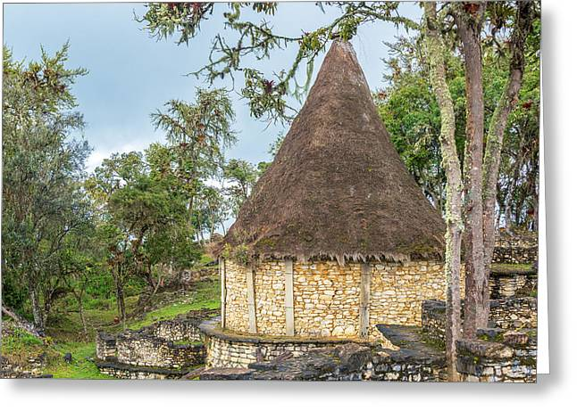 Civilization Greeting Cards - Ancient House in Kuelap Peru Greeting Card by Jess Kraft