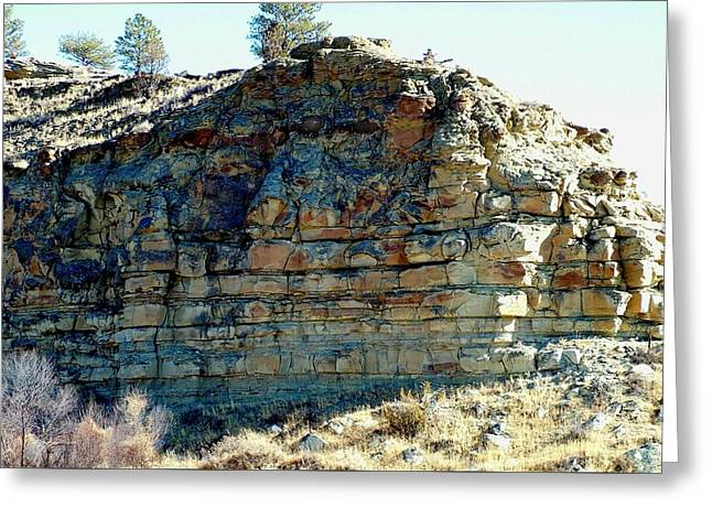 Layers Greeting Cards - Ancient Layers Greeting Card by Tracey Vivar