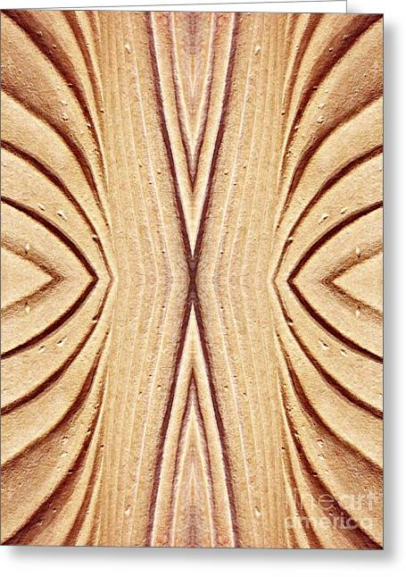 Sienna Greeting Cards - Ancient Lines 11 Greeting Card by Sarah Loft