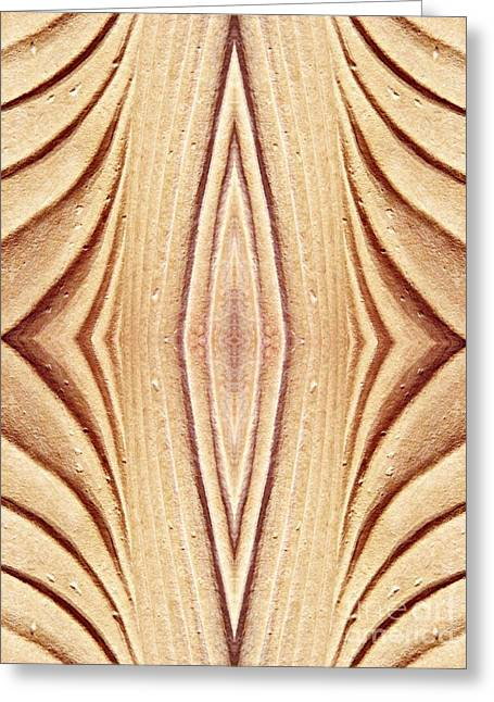 Sienna Greeting Cards - Ancient Lines 12 Greeting Card by Sarah Loft