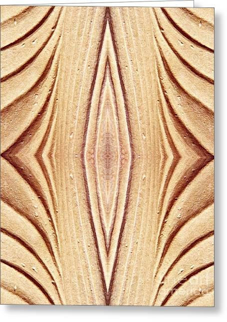 Sienna Digital Art Greeting Cards - Ancient Lines 12 Greeting Card by Sarah Loft