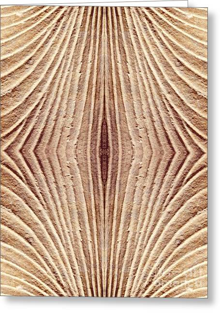 Sienna Greeting Cards - Ancient Lines 4 Greeting Card by Sarah Loft