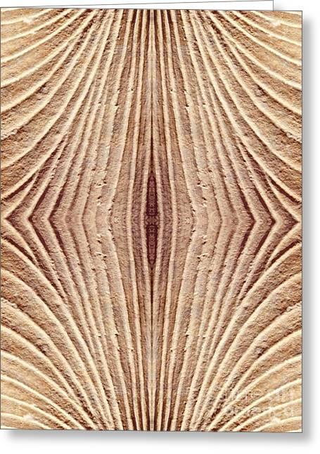 Sienna Digital Art Greeting Cards - Ancient Lines 4 Greeting Card by Sarah Loft