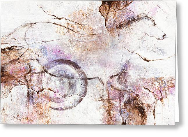 Catherine Foster Mixed Media Greeting Cards - Ancient Messages no. 104  Greeting Card by Catherine Foster