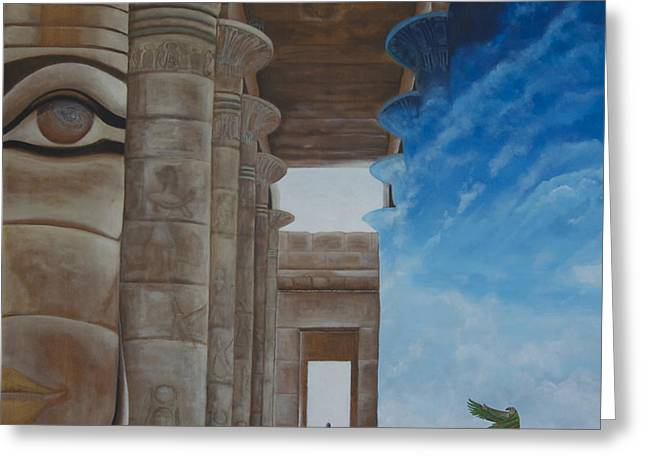 Horus Greeting Cards - Ancient Passage Greeting Card by Blima Efraim