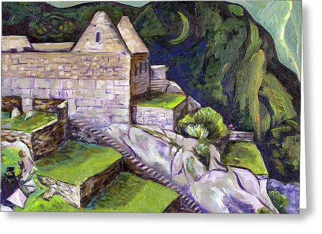 Visionary Artist Greeting Cards - Ancient Passage Greeting Card by Susan Tower