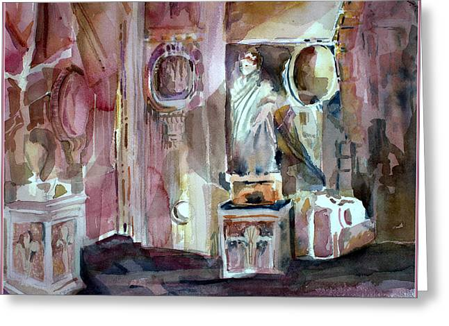 Civilization Greeting Cards - Ancient Roman Forum Interior Greeting Card by Mindy Newman