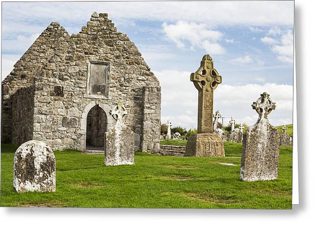 Remains Of Images Greeting Cards - Ancient Stone Roofless Church Greeting Card by Michael Interisano