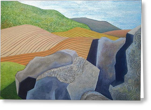 Ancient Stones Greeting Card by Jennifer Baird