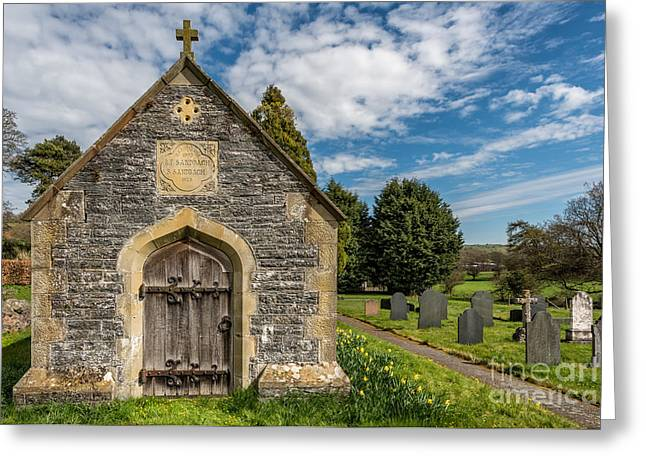 Churchyard Greeting Cards - Ancient Tomb Greeting Card by Adrian Evans
