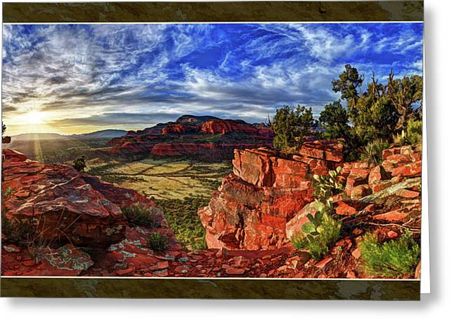 Colorful Cloud Formations Greeting Cards - Ancient Vision Greeting Card by Bill Caldwell -        ABeautifulSky Photography