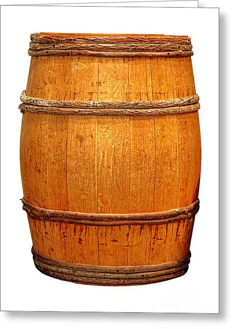 Coopersmith Greeting Cards - Ancient Whisky Barrel Greeting Card by Olivier Le Queinec