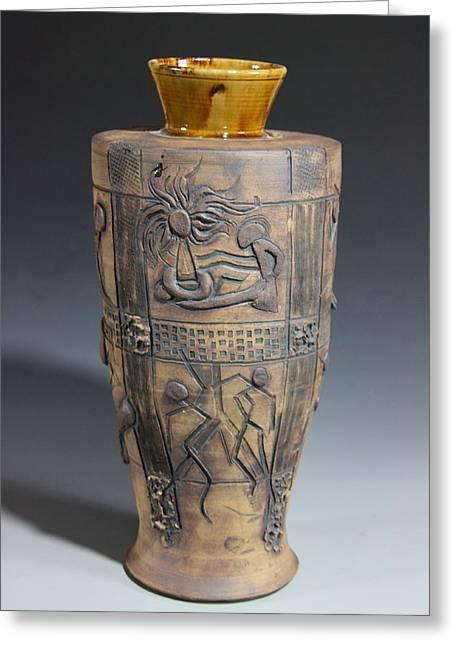 Symbol Ceramics Greeting Cards - Ancient Windows Greeting Card by Dan Earle