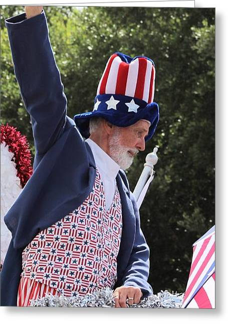 4th Of July Parade Greeting Cards - Uncle Sam Says... Greeting Card by Beth Wiseman
