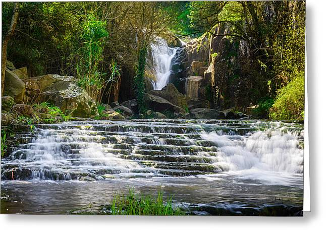 Ancos Waterfall Greeting Card by Marco Oliveira