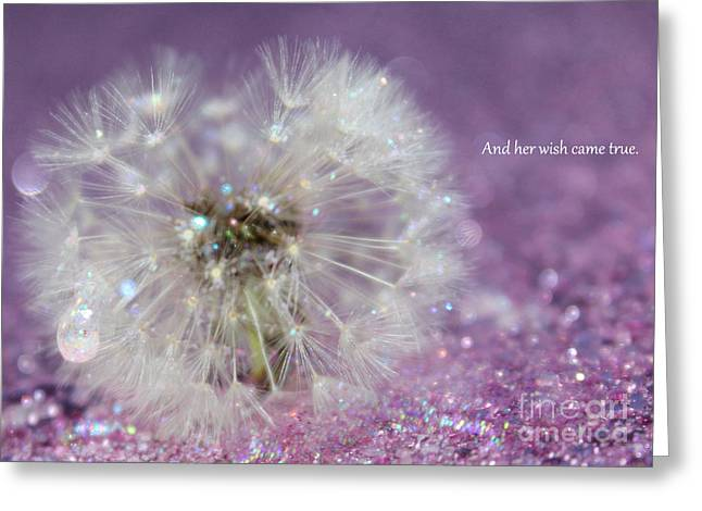 And Her Wish Came True Greeting Card by Krissy Katsimbras