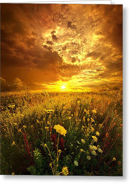 Green Leafs Greeting Cards - And In A Whispered Moment She Was Gone Greeting Card by Phil Koch