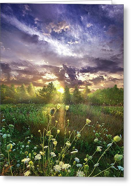 And In The Naked Light I Saw Greeting Card by Phil Koch