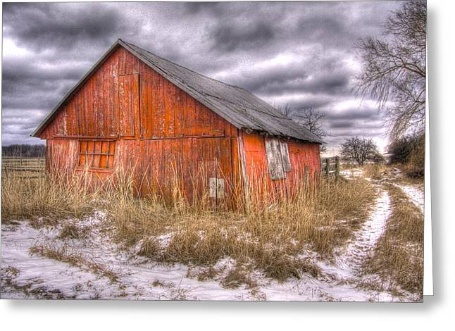 Rural Images Greeting Cards - ..And morning brings another empty day  Greeting Card by Russell Styles