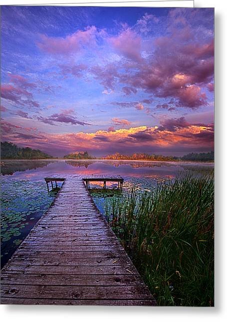 Phil Koch Greeting Cards - And Silence Greeting Card by Phil Koch