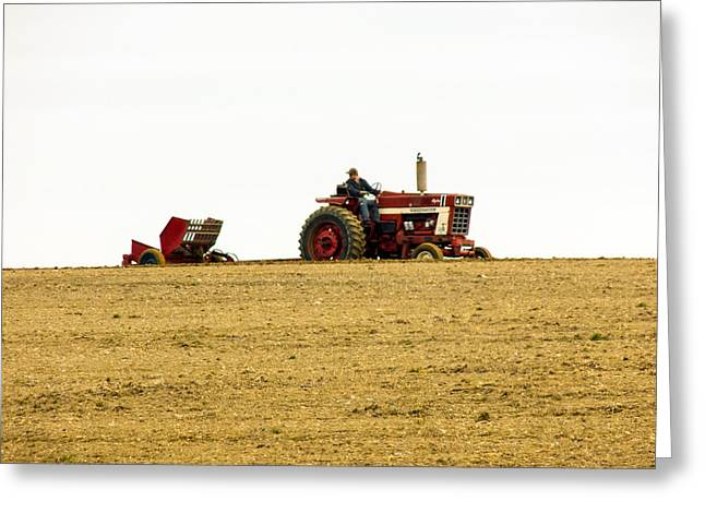 Maine Farms Greeting Cards - And Sow It Begins Greeting Card by William Tasker