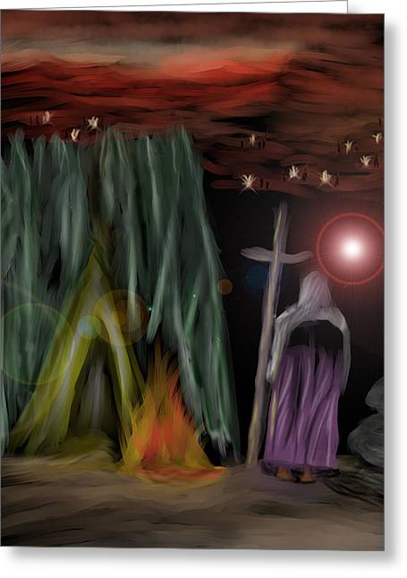 Prophesy Greeting Cards - And the fourth angel sounded Greeting Card by Vincent White