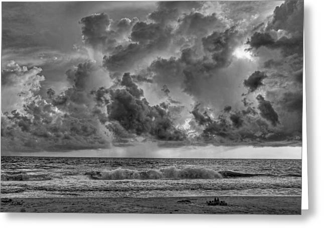 Summer Storm Greeting Cards - And The Rains Came Greeting Card by HH Photography