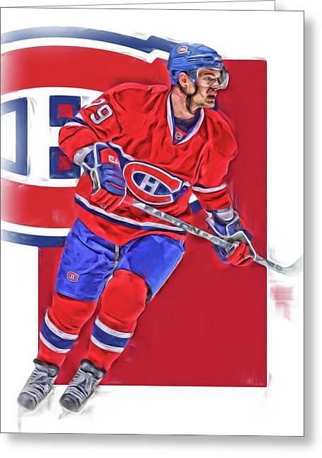 Andrei Markov Montreal Canadiens Oil Art Greeting Card by Joe Hamilton
