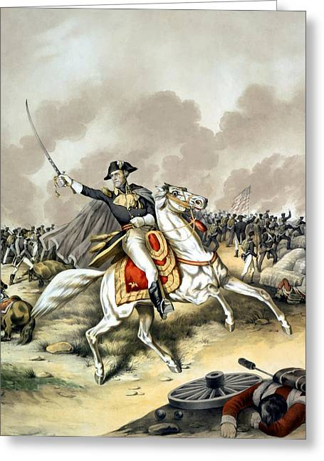 American History Paintings Greeting Cards - Andrew Jackson At The Battle Of New Orleans Greeting Card by War Is Hell Store