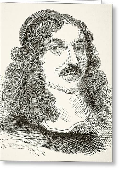 Metaphysics Greeting Cards - Andrew Marvell 1621to 1678, English Greeting Card by Vintage Design Pics