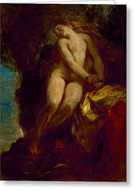 Andromeda Greeting Card by Eugene Delacroix