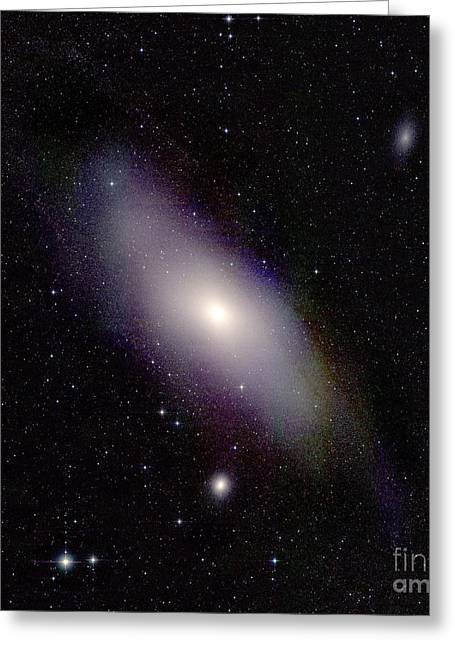 Andromeda Galaxy, M31 With Companion Greeting Card by Science Source